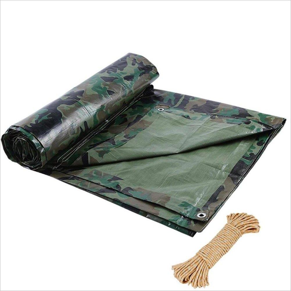 ZHANWEI ターポリンタープ 屋外の 迷彩 レインプルーフ 絶縁 布、 100g /㎡、 カスタマイズ可能なサイズ (色 : 緑, サイズ さいず : 4 x 5m) 4 x 5m 緑 B07PYWXC9H