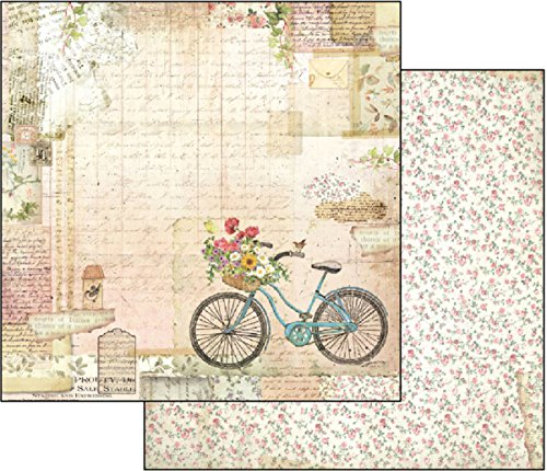 Bicycle Stock - Stamperia Double-Sided Cardstock 12