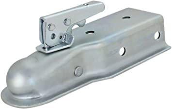 Accepts 2-Inch Trailer Hitch Ball 5,000 lbs GTW 3-Inch Channel CURT 25100 Straight-Tongue Trailer Coupler