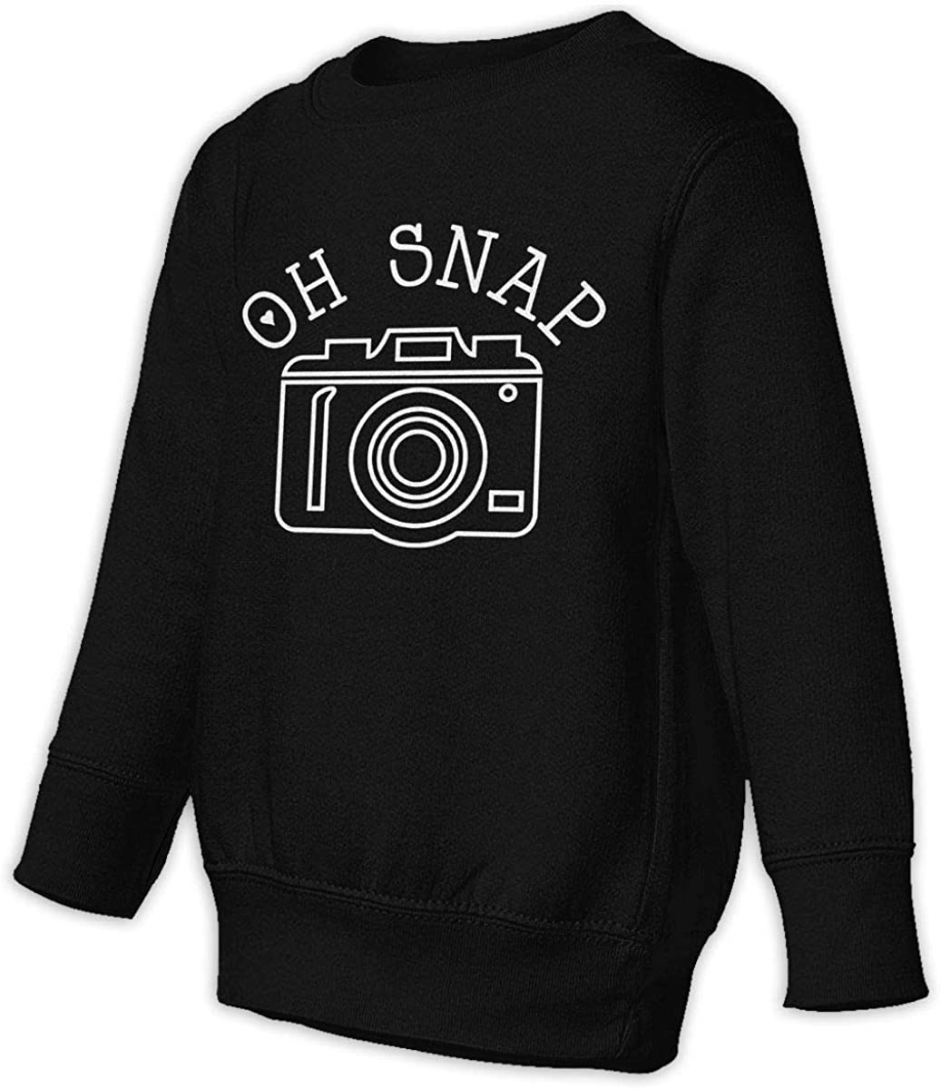Oh Snap Camera Boys Girls Pullover Sweaters Crewneck Sweatshirts Clothes for 2-6 Years Old Children