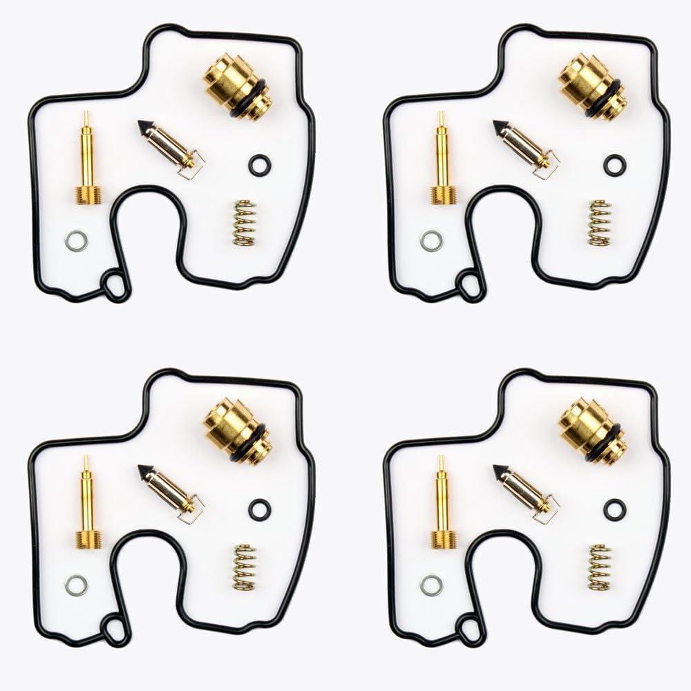 4x Carburateur Kits de r/éparation Joint Pointeau convient pour Yamaha YZF-R1 1000