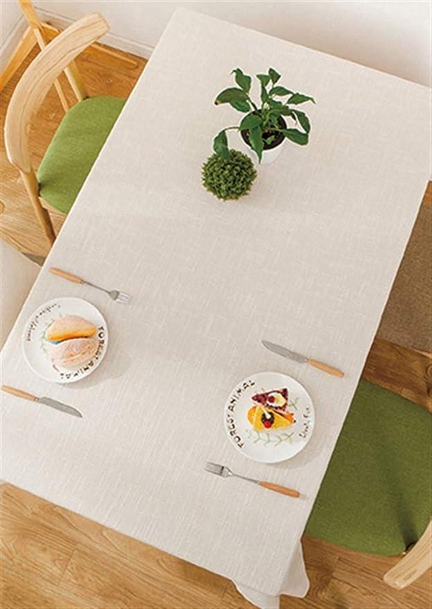 de Lavable Table Tissu Lin Coton Nappe Moderne Insun Nappe TlF1cKJ