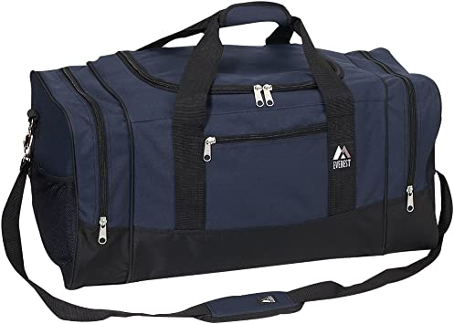 Navy//Black all about me company Medium Two-Tone Duffel Bag Personalized Anchor Gym Bag