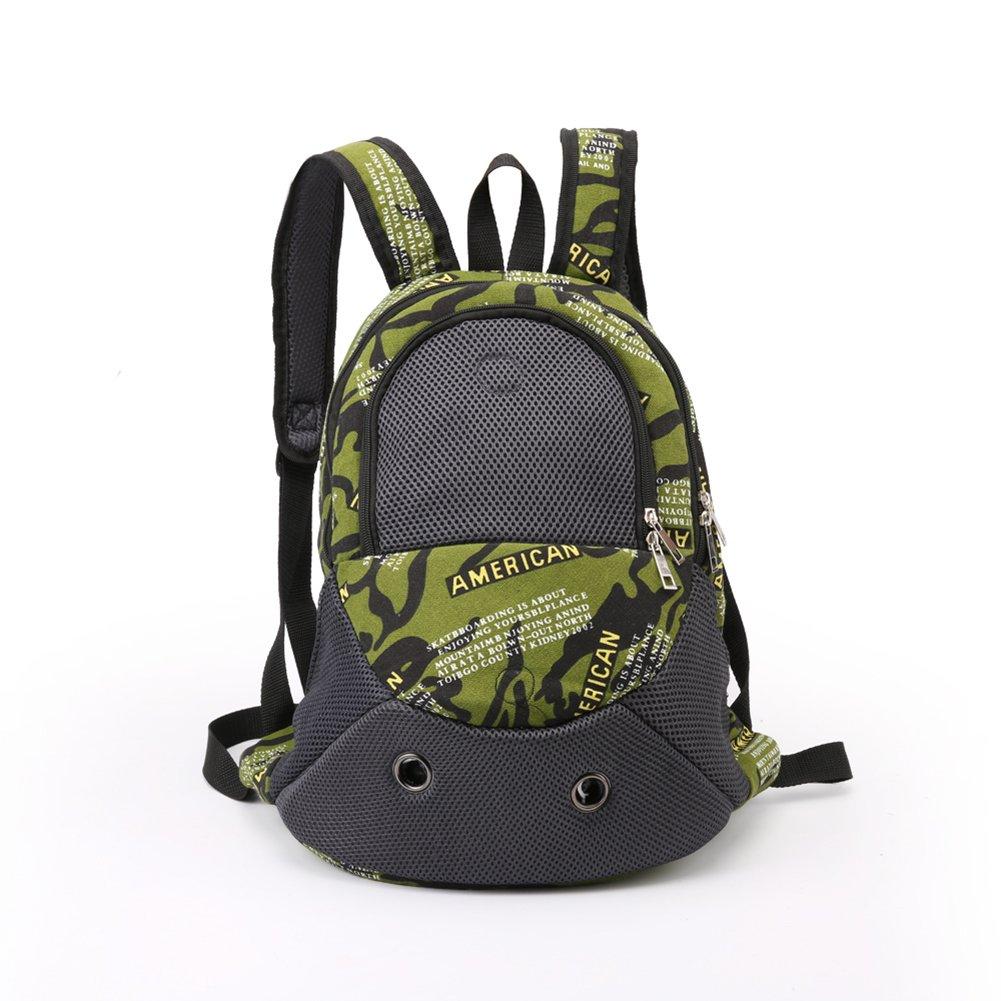 Amorar Zaino portabagagli per animali, Zaino per cani regolabile Escursionismo Borsa da viaggio per cani borsa a tracolla con comoda spallina, trasportino per cane, animali domestici