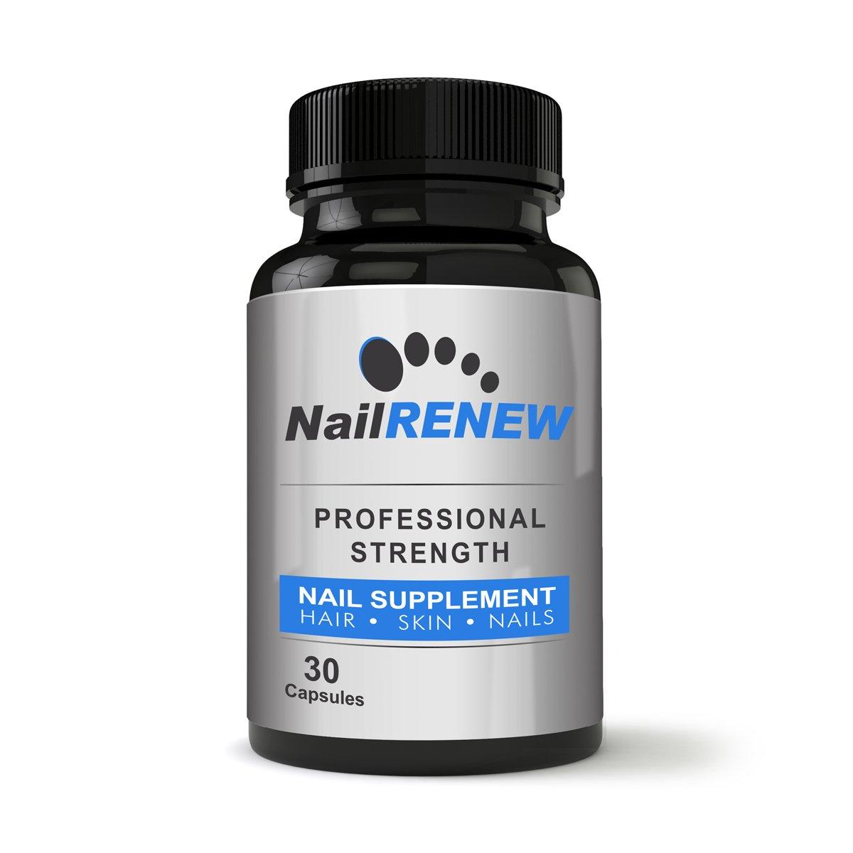 NailRENEW Daily Nail Supplement - Professional Strength Biotin/Vitamin Blend, 30 Capsules