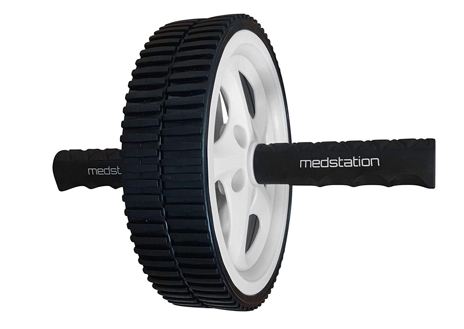 Medstation Ab Roller Wheel for Abdominal Exercise for Home Gym Exercise Wheel with Industrial Steel Core and Ergonomic Grips Sculpts Abs and Tones Your Core to Reduce Belly Fat and Slim Your Waist