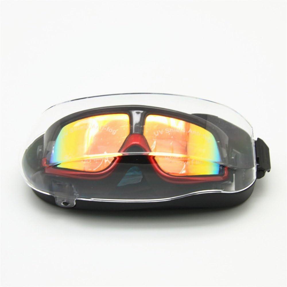 EnzoDate Myopie Lunettes de Natation Lunettes de Sport Masques de plong/ée Optique Tuba apn/ée sous-Marine Anti-Fog Bouchons doreille Noir//Argent, Force -250