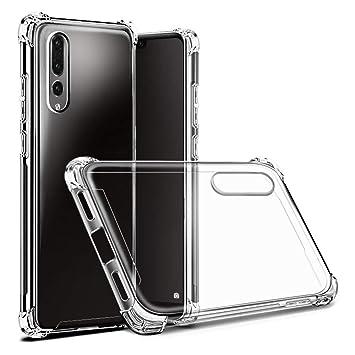Hually Funda Huawei P20 Pro, Funda Protectora Transparente Ultra Delgada de Silicona para la Carcasa del Huawei P20 Pro (Transparente)