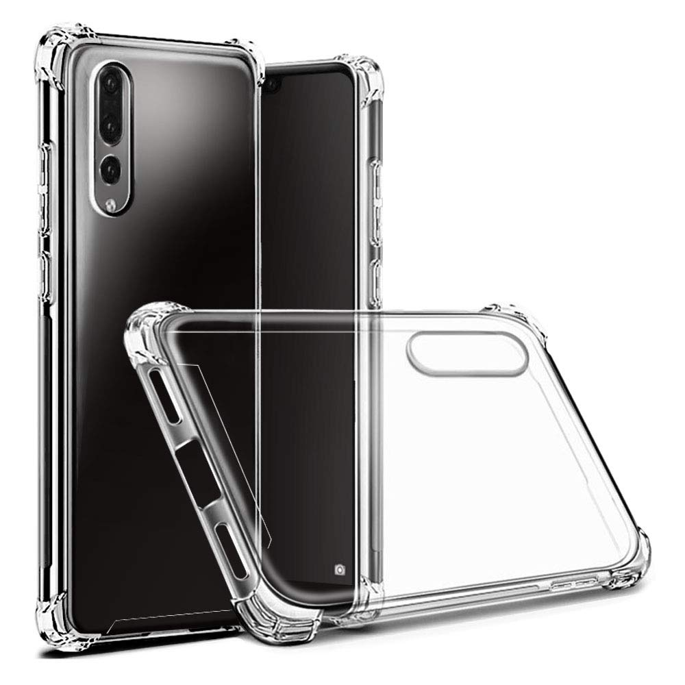 Hually Case for Huawei P20 Pro, Ultra Thin P20 PRO Case with Flexible TPU Hard PC Back All Round Protection, Shock Absorbent Cover for Huawei P20 Pro - Crystal Clear