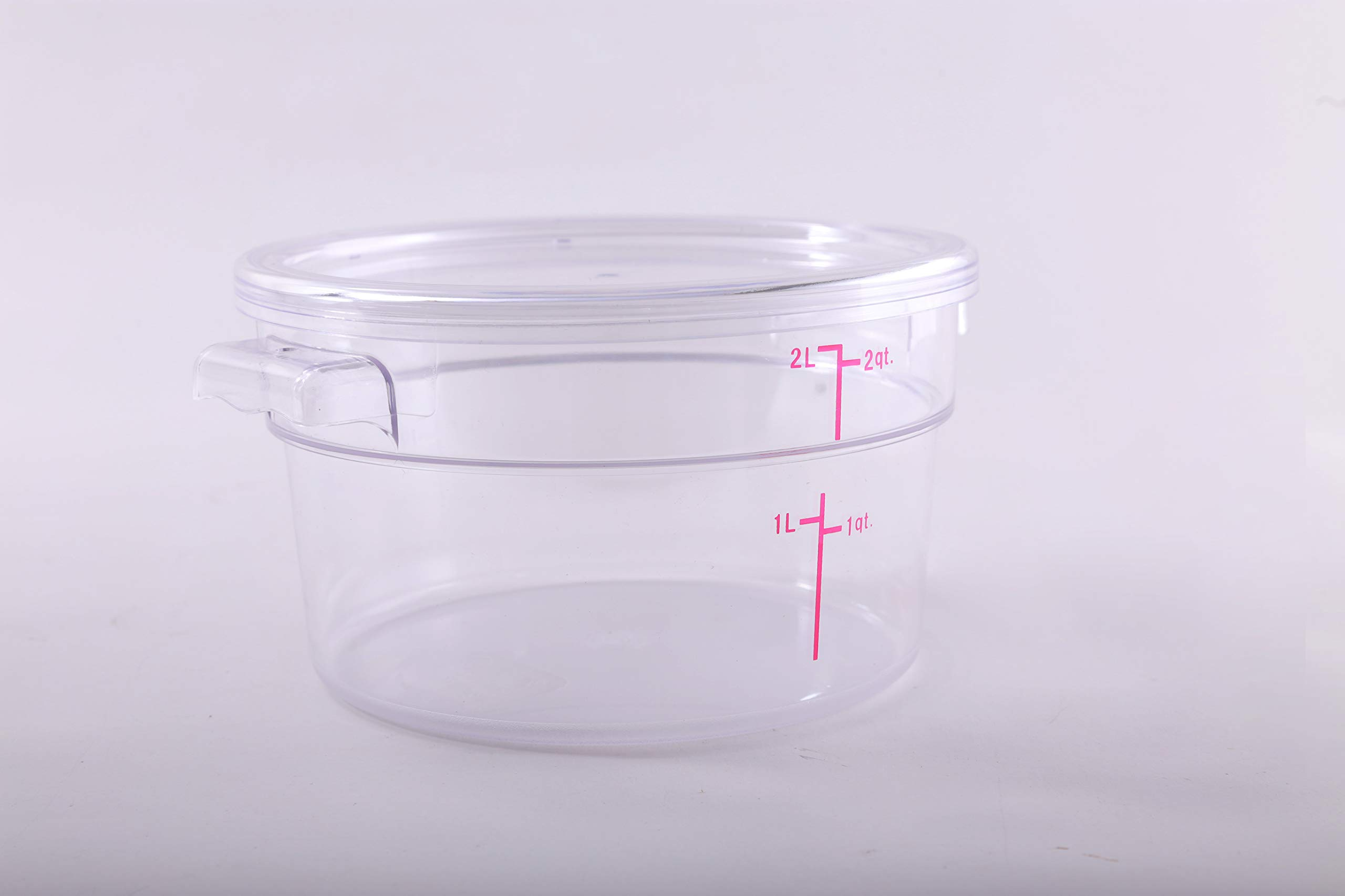 Hakka 2 Qt Commercial Grade Round Food Storage Containers with Lids,Polycarbonate,Clear - Case of 5 by HAKKA FOOD PROCESSING (Image #4)