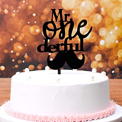 Awesome Cute 1Th Boy Birthday Cake Topper Mr One Derful Cake Topper With Birthday Cards Printable Nowaargucafe Filternl