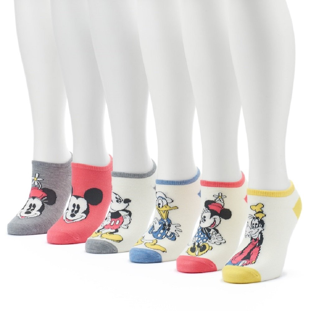 Women's 6-pk. Disney's Mickey Mouse and Friends No-Show Socks