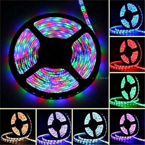 econoLED LED Flexible Strip Lights,Strip Lights, 16.4ft 300leds 5m Waterproof Adhesive Light Strips RGB Color Changing SMD 3528 Ribbon Kit with 44key Remote with Power Supply by econoLED (Image #7)