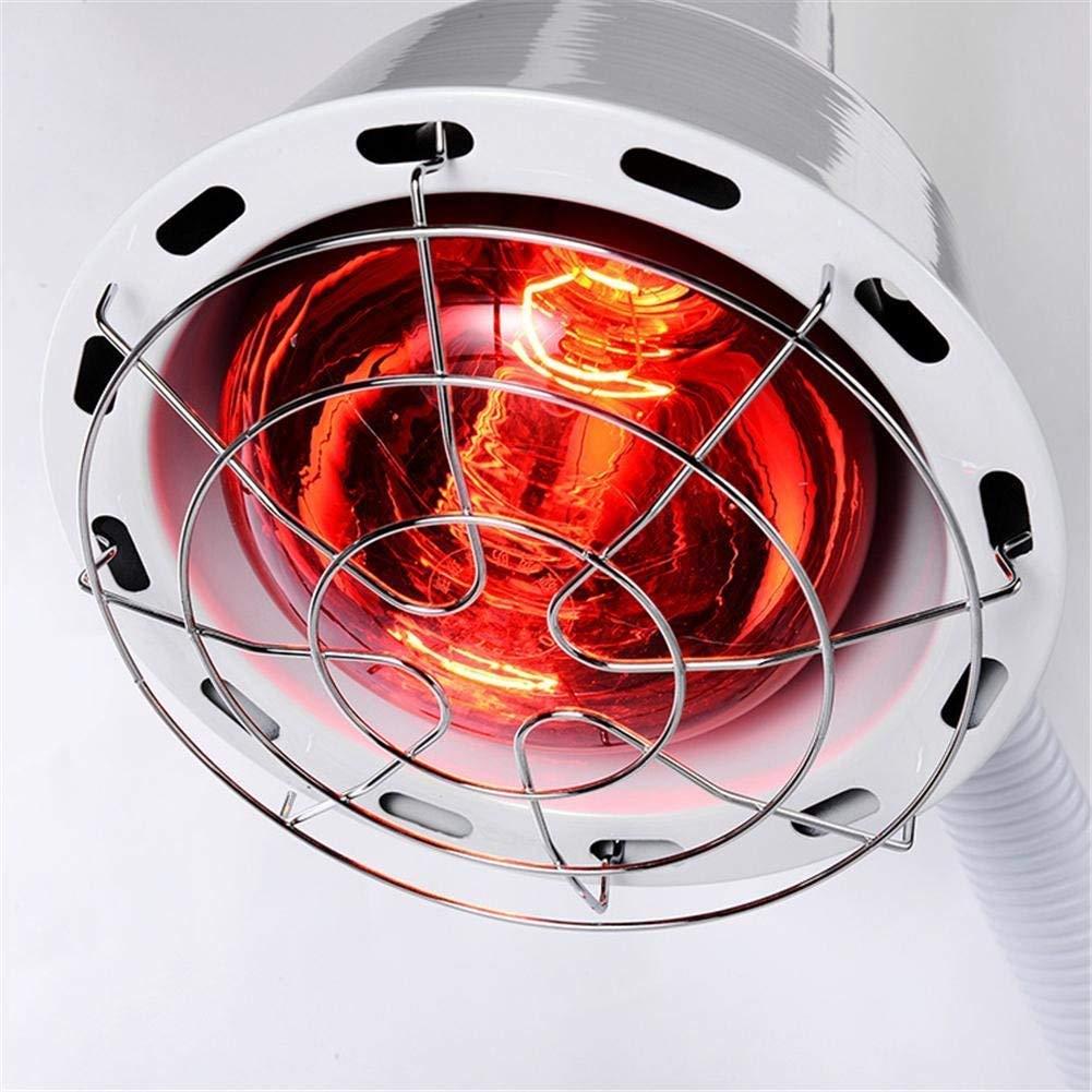 DULAMP Doppelt Kopf Infrarot Hitze Lampe IR rot Licht Sch/önheit Salon Physiotherapie Therapie Schmerzen Linderung Muskel Haut Akupunktur Mit Birne 275Wx2