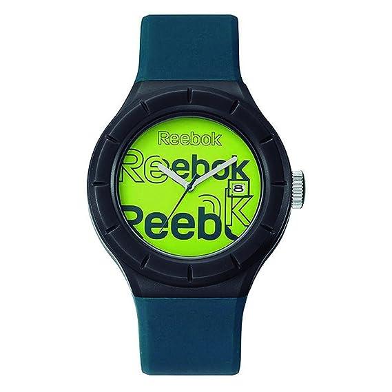 Reebok Warmup logomash analógica de entrenamiento para hombre FECHA reloj de profundidad verde petróleo y verde rf-twl-g3-pnpl-hl: Amazon.es: Relojes