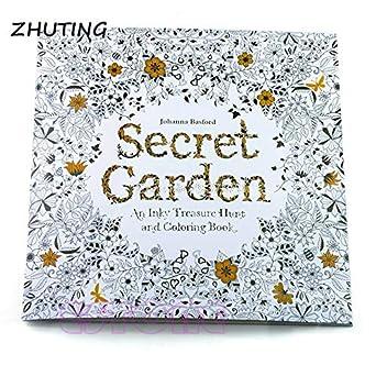 Hariier Children Secret Garden Coloring Book 14 Pages Adult