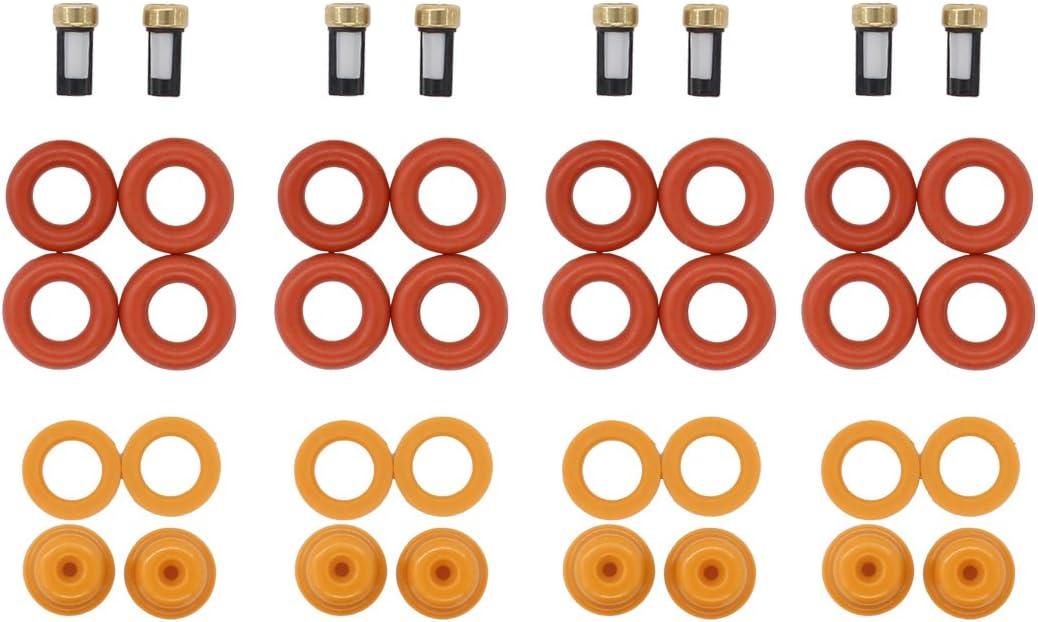 PINTLE CAPS SPACER FILTERS FORD-MERCURY V6 FUEL INJECTOR REPAIR KIT O-RINGS