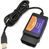 iKKEGOL V1.5 USB Interface OBDII OBD2 Diagnostic Car Auto Scanner Tool Cable Scan