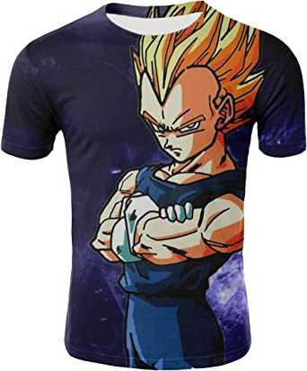 Camiseta Dragon Ball Niño Unisex 3D Impresión Hombres Camisetas y Camisas Deportivas Camisetas de Manga Corta T Shirt Fresco Dibujos Animados de Fans Streetwear Camisetas de Verano: Amazon.es: Ropa y accesorios