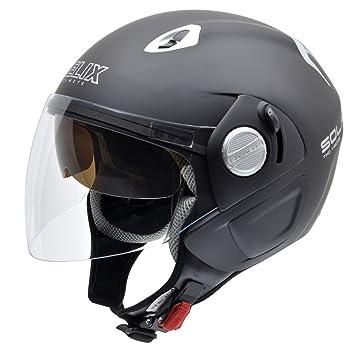 NZI 150212G093 Solar Casco de Moto, Color Negro, Talla 59 (XL)