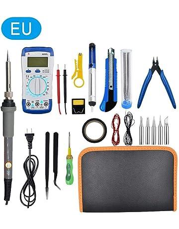 Liberty Box Multímetro Digital Juego de Soldadura electrónico Puntas de Soldador Pinzas antiestáticas Soldadura eléctrica Kit