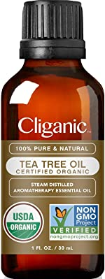 Cliganic Organic Tea Tree Essential Oil, 100% Pure Natural, for Aromatherapy