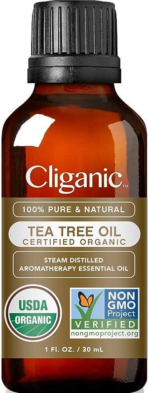 Cliganic Organic Tea Tree Essential Oil, 100% Pure Natural, for Aromatherapy   Non-GMO Verified