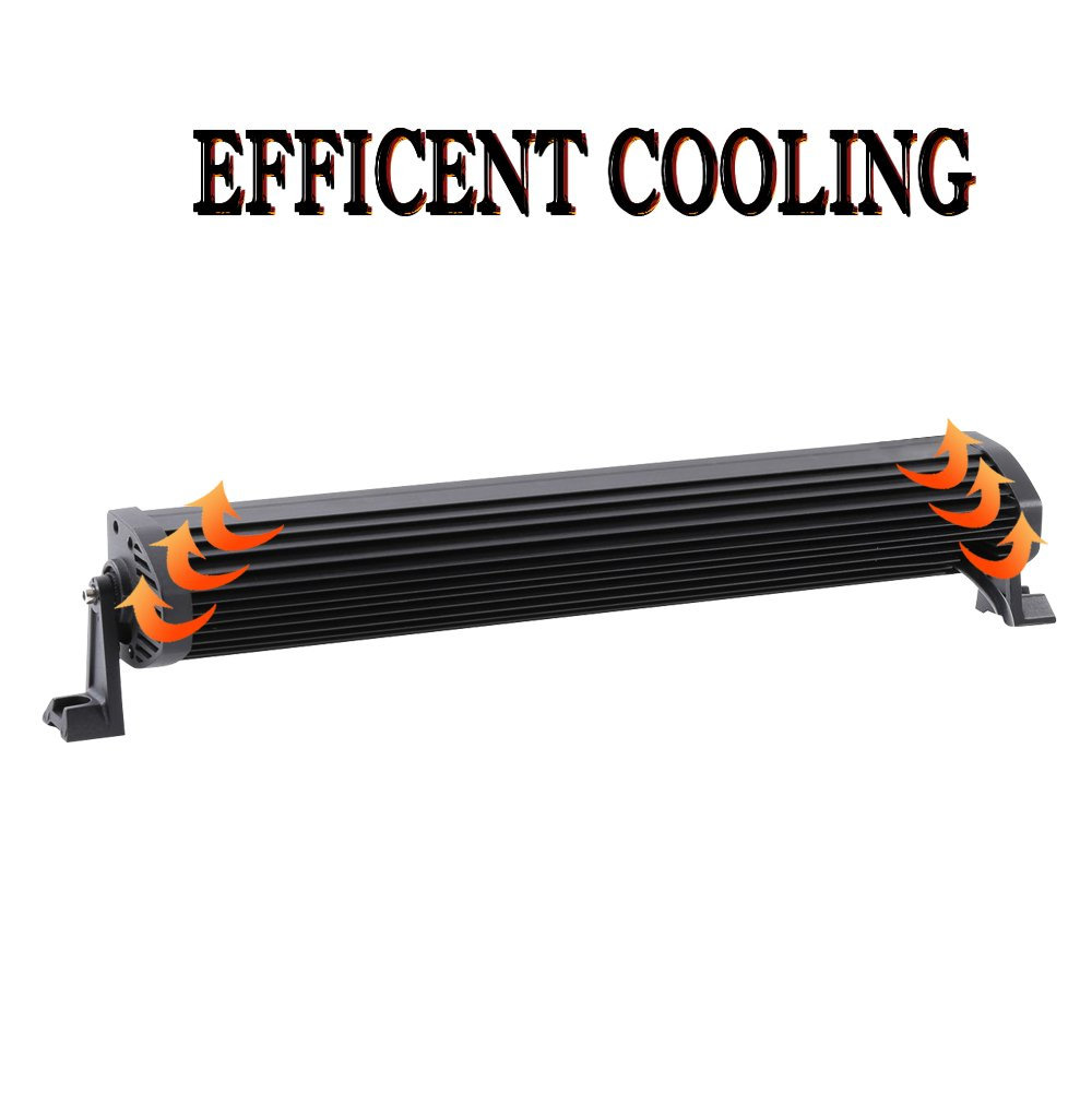Simplive 24 120w Led Light Bar Flood Spot Combo With Wiring Harness Fishing Boat And Mounts Bars Amazon Canada