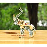 Handmade Elephant Art Glass Blown Wild Animal Figurine - No.2