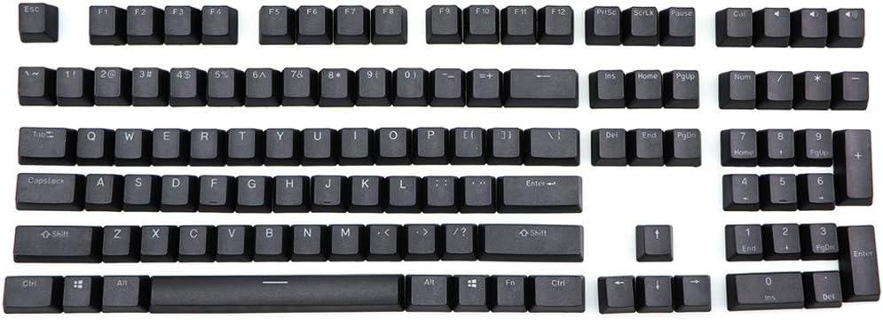 BIlinli Negro Blanco PBT Double Shot Retroiluminado 108 Top-Iluminado Shine Through Translucent Backlit keycaps para Corsair K70 K65 K95 RGB Teclado mecánico