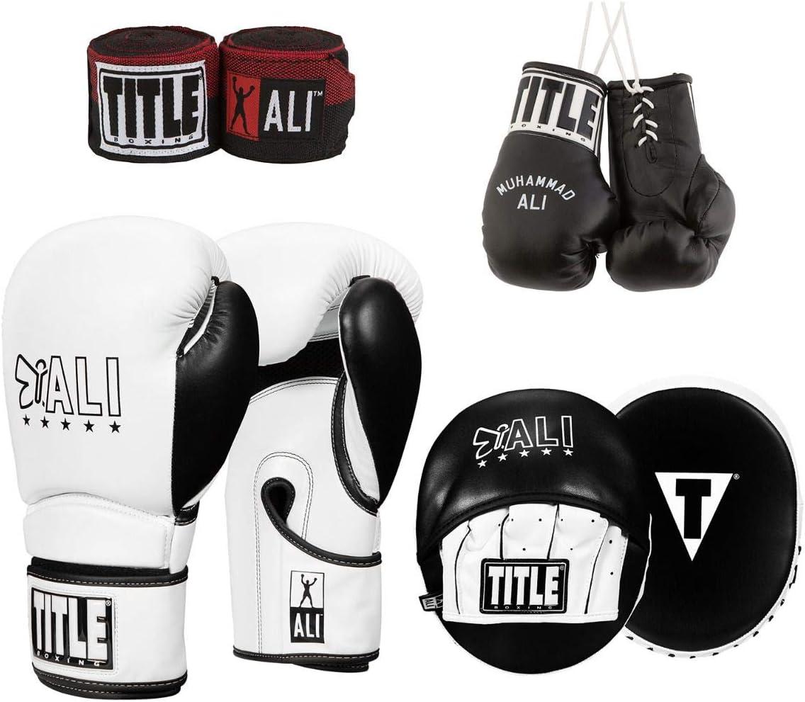 Title Boxing ALI ランブルトレーニングセット ホワイト/ブラック 14 oz