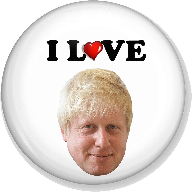 "Boris Johnson Great Escape 59mm//2.3/"" Button Badge//Pin-Back Badge BREXIT Type 1"