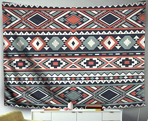 - Asdecmoly Door Tapestry Wall Hanging, Tapestry Wall Hanging Living Room Bedroom 60 Lx50 W Inches Ethnic Pattern Ures Abstract Navajo Geometric Printrustic Ornament Na Art Printing Inhouse