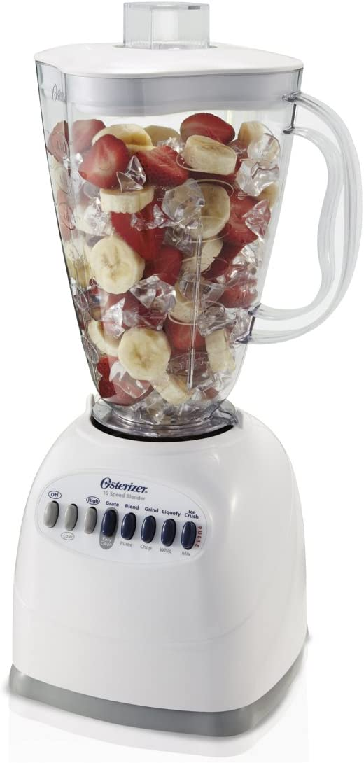 OSTER 6640 ampndash NP1 10-Speed Blender with Plastic Jar, 48 Ounce, White