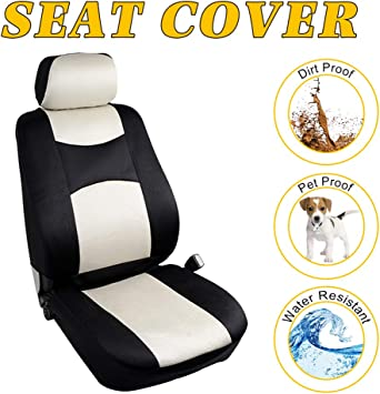 Stretchy Universal Seat Cushion W//Headrest Cover 100/% Breathable Automotive Accessories Durable Polyester for Most Cars OCPTY Car Seat Cover Black