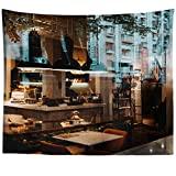 Westlake Art - Cafe Chill - Wall Hanging Tapestry - Picture Photography Artwork Home Decor Living Room - 68x80 Inch (7D9AD)