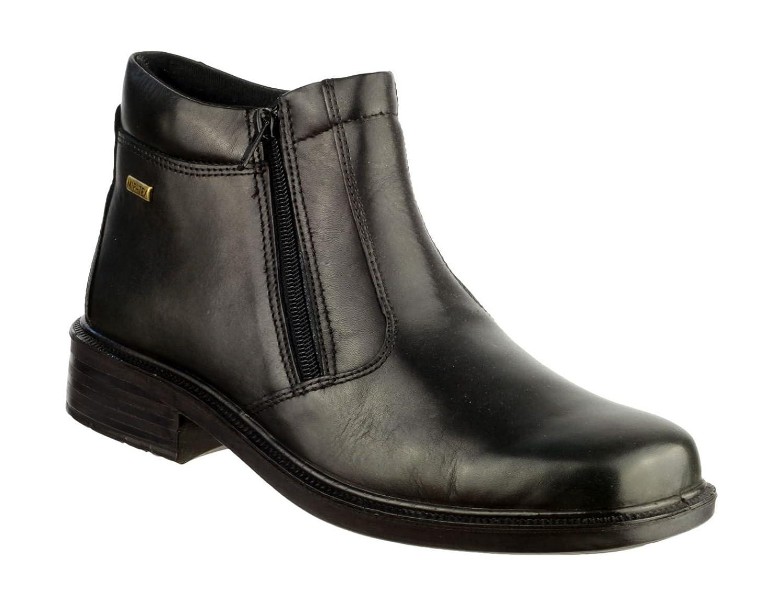 Cotswold Mens Kelmscott WP Boots Textile Leather PU Side Zip Footwear Shoes
