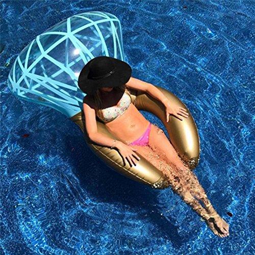 Anillo hinchable de diamante para piscina, flotador, anillo de natación para adulto verano juguetes de agua: Amazon.es: Juguetes y juegos