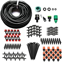 Drip Irrigation System Plant Auto Watering Drip Kit Garden/Lawn/Patio,15M DIY Blank Distribution Tubing Hose Include Adjustable Nozzles, by WHOLEV