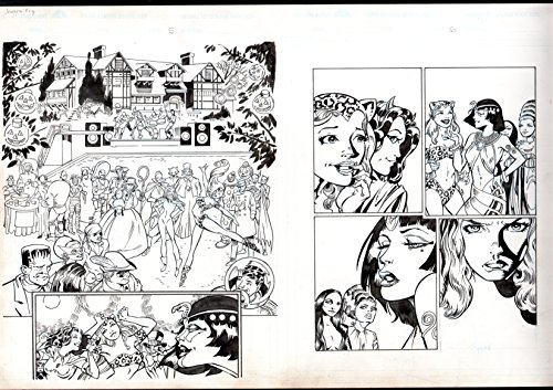 JAMES FRY ORIGINAL COMIC ART-HALLOWEEN -