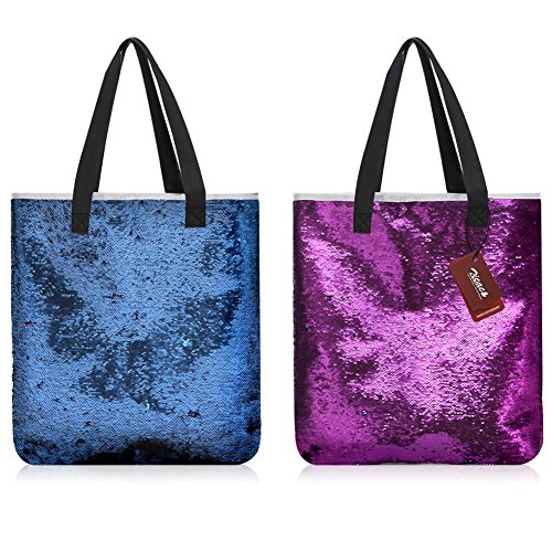 Messenger Mermaid Shoulder Girl Women Fashion Sequins Reversible Purple Bookbag Shopping Zicac Bag Handbag qUXvHtHT