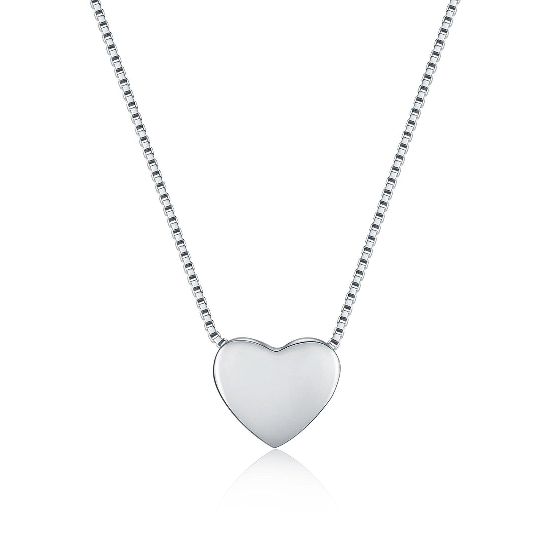 piccolo WRISTCHIE Collana a cuore galleggiante in argento in argento sterling 18