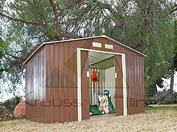 Caseta Cobertizo de Metal verde para Jardin Space Verde: Amazon.es: Jardín