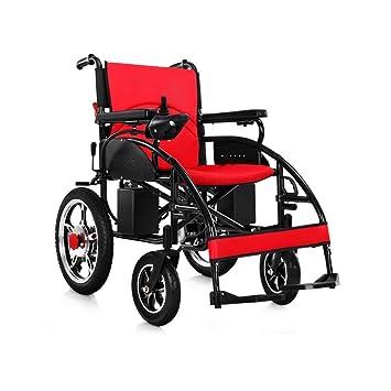 YONG FEI Silla de Ruedas eléctrica, Plegables y Ligeras, Silla de Ruedas Inteligente con Cuatro Ruedas para discapacitados discapacitados, Carga 150 kg, ...