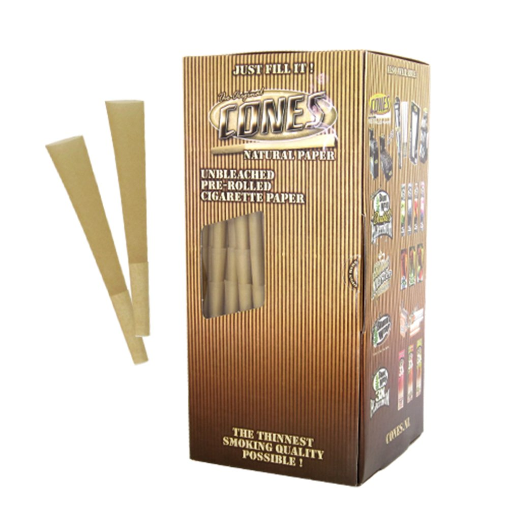 Cones Natural 1 1/4 Pre Rolled Cones with 26mm Filter - 900 Pack