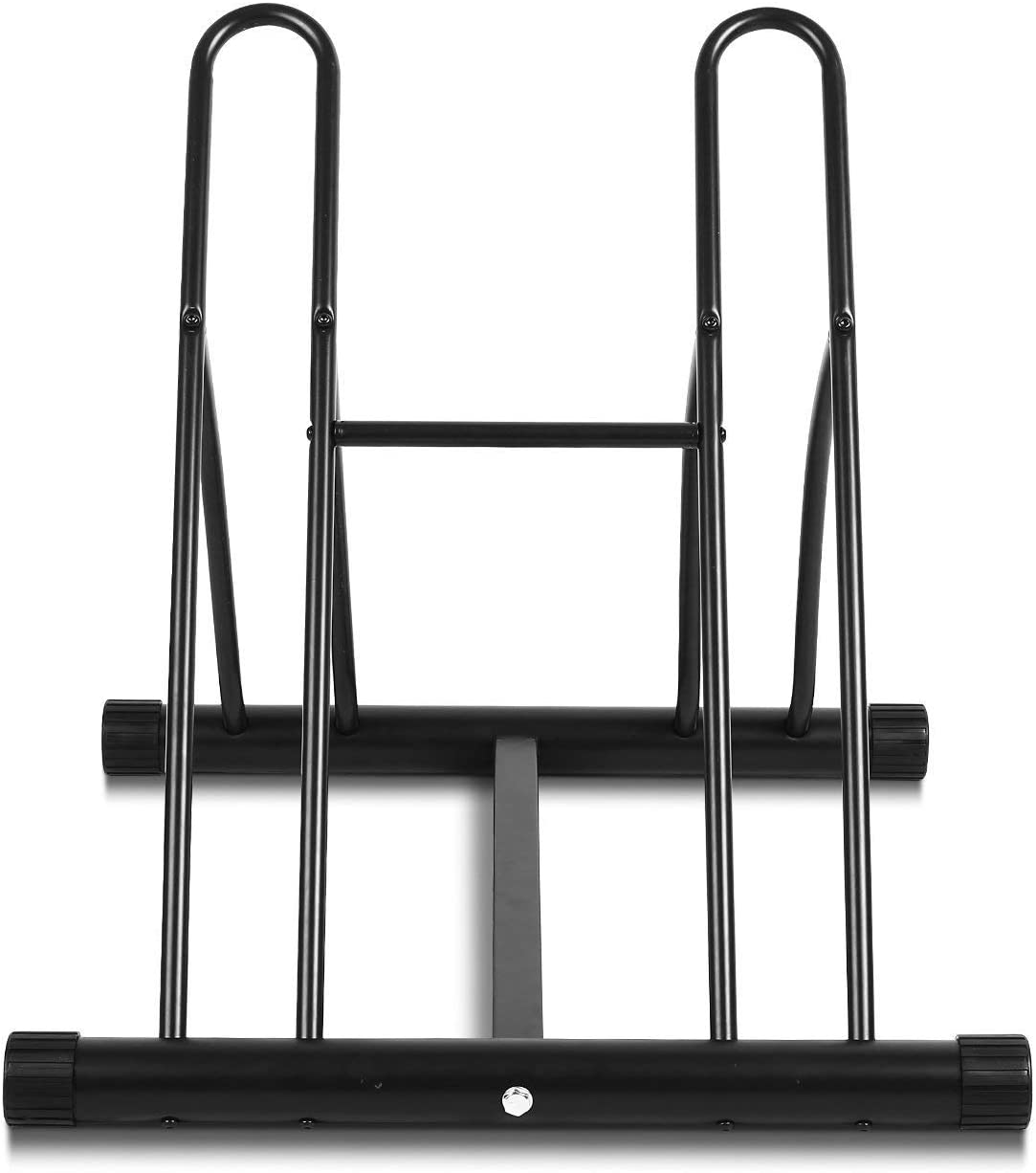 Acciaio Rack Per Parcheggio 58 /× 55 /× 56 CM Nero Parcheggio per Le Bici Fino a 2 Posti FEMOR Rastrelliera Portabici