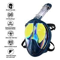 Deals on Enkeeo Full Face UV 400 Protection Snorkel Mask