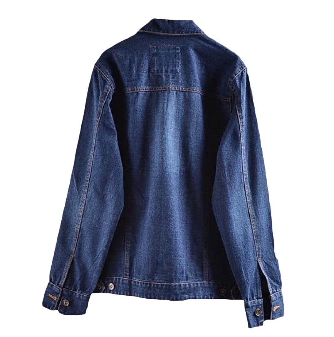 e014798d8b4 Coolred Women Casual Washed Turn-down Collar Mid-long Thin Jean Coat 1  One-Size at Amazon Women s Coats Shop