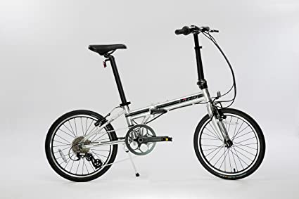 """EuroMini-ZiZZO 23lb Lightweight Aluminum Alloy 20"""" 8-Speed Folding Bicycle with Quick"""