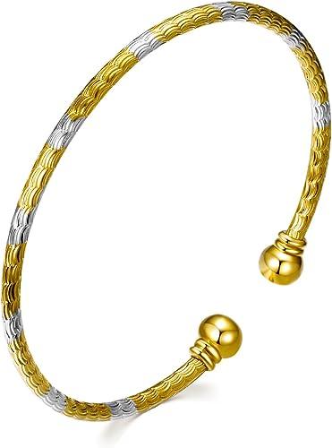 BLACK PEARL  Elegance BRACELET  Silver Gold Finish  DESIGNER INSPIRED  Open Cuff